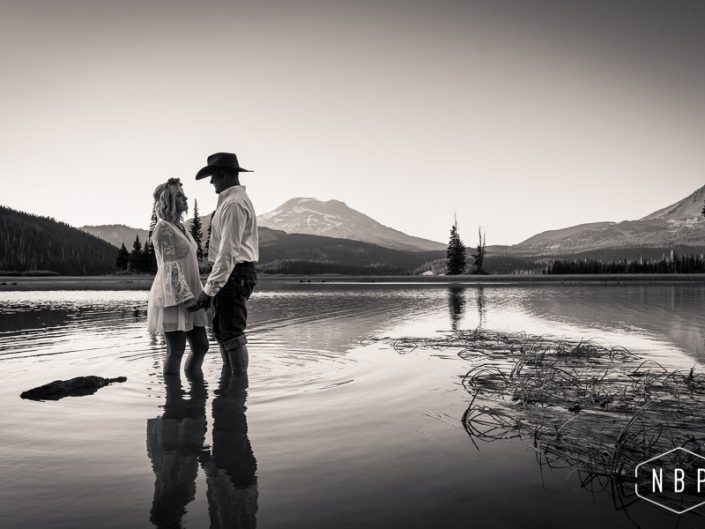 Heather & Ty's Adventure Shoot – Sparks Lake, Bend Oregon